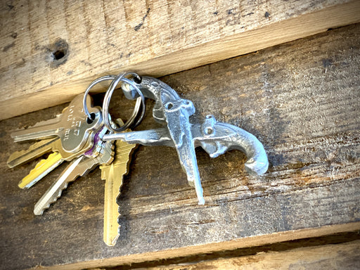 Metal Jean Lafitte Pistol I10 Bridge Keychain by Candice Alexander