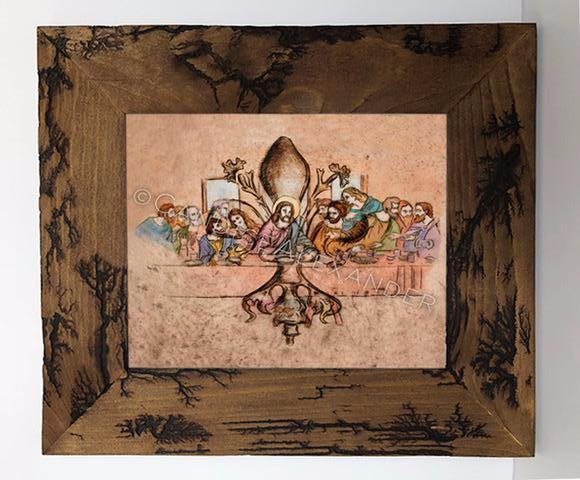 Candice Alexander Fleur De Lis Last Supper Electrocuted Frame