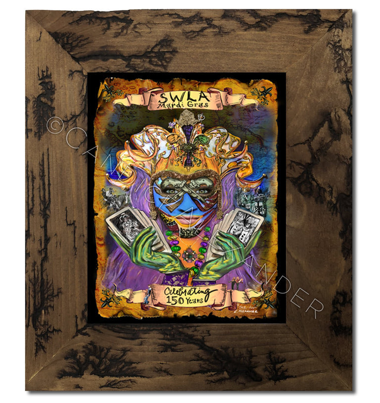 SWLA Official 2017 Mardi Gras Poster in Electrocuted Frame