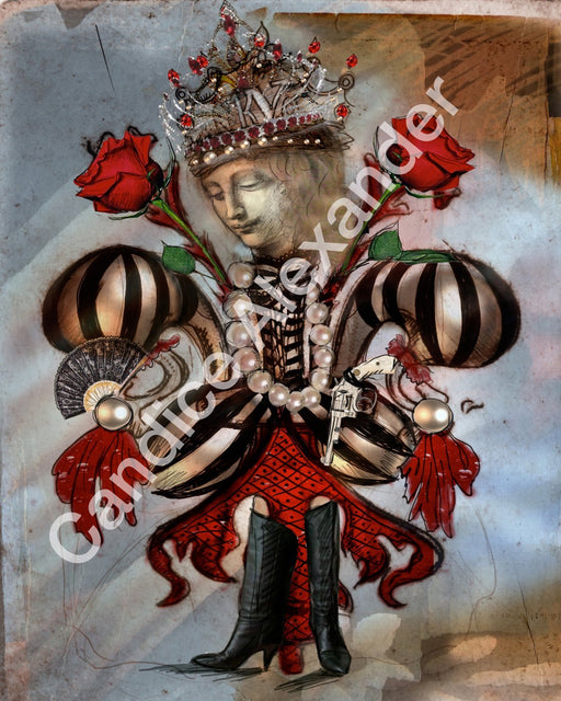 Pirate Queen Fleur De Lis Candice Alexander  Fleur De Lis art by Candice Alexander, Louisiana Artist