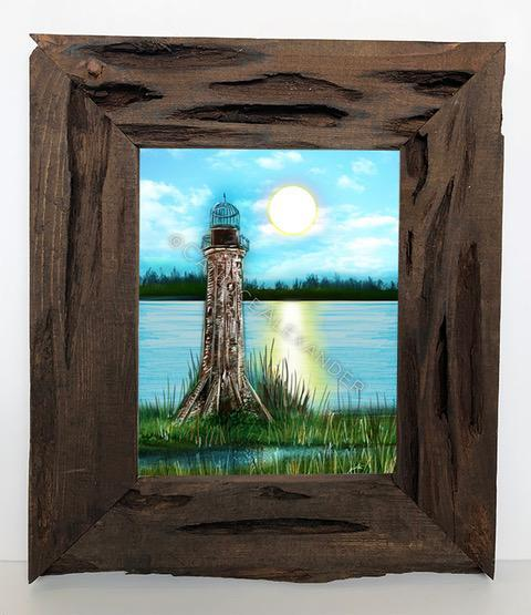 Candice Alexander Sabine Lighthouse Louisiana Cypress Frame