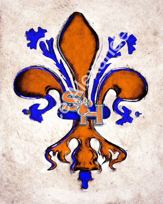 Sam Houston University Fleur De Lis Art by Candice Alexander Fleur de Lis Artist Fleur De Lis art by Candice Alexander, Louisiana Artist
