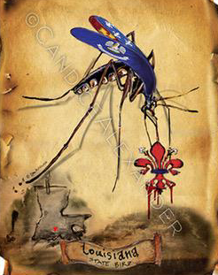 Candice Alexander I Bleed Louisiana Mosquito Design Fleur De Lis art by Candice Alexander, Louisiana Artist
