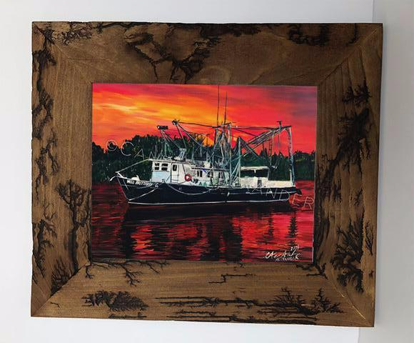 Candice Alexander Shrimp Boat Electrocuted Frame
