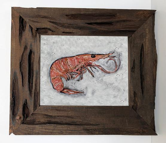 Candice Alexander Shrimp Louisiana Cypress Frame