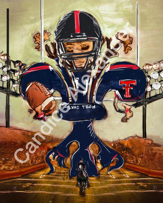 Texas Tech Football Fleur De Lis by Candice Alexander Fleur De Lis Artist Fleur De Lis art by Candice Alexander, Louisiana Artist