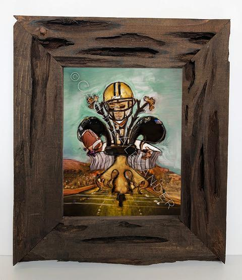 Candice Alexander Fleur De Lis Saints Louisiana Cypress Frame