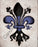 Thin Blue Line Fleur by Candice Alexander  Fleur De Lis art by Candice Alexander, Louisiana Artist