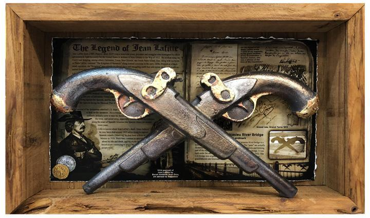 Jean Lafitte Pistols Two Tone Gold Finish