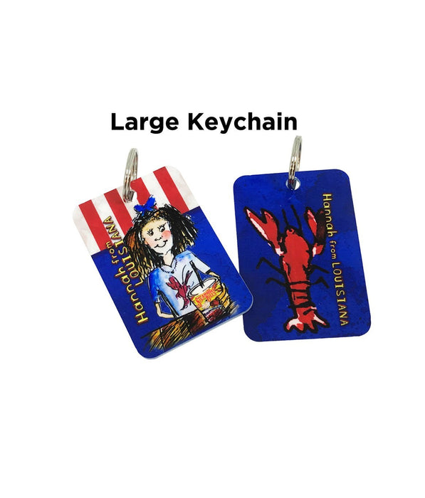 Hannah From Louisiana: Adventures at Steamboat Bills Large Keychain