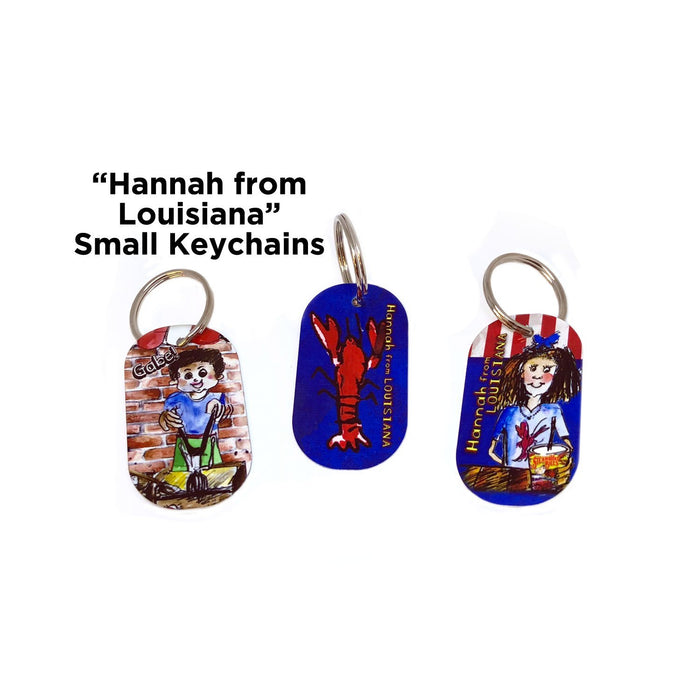 Hannah From Louisiana: Adventures at Steamboat Bills Small Keychain