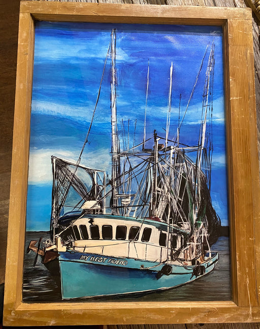 Calcasieu,  SWLA,  Louisiana,  Shrimp Boat,  Boat  Shrimp,  Window Frames,  design,  Candice Alexander Art,  Art