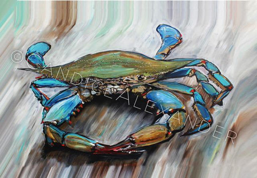 Candice Alexander New Crab Design Fleur De Lis art by Candice Alexander, Louisiana Artist