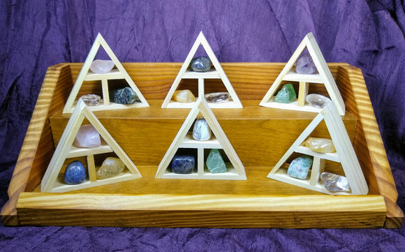 Tiny Altars are handcrafted portable altars with intuitively selected stones and crystal to help you with your intentions and to bring thoughtfulness and loving kindness in to your practice of being a modern human.