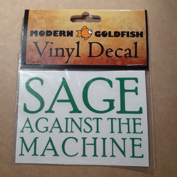 Sage Against The Machine vinyl decal