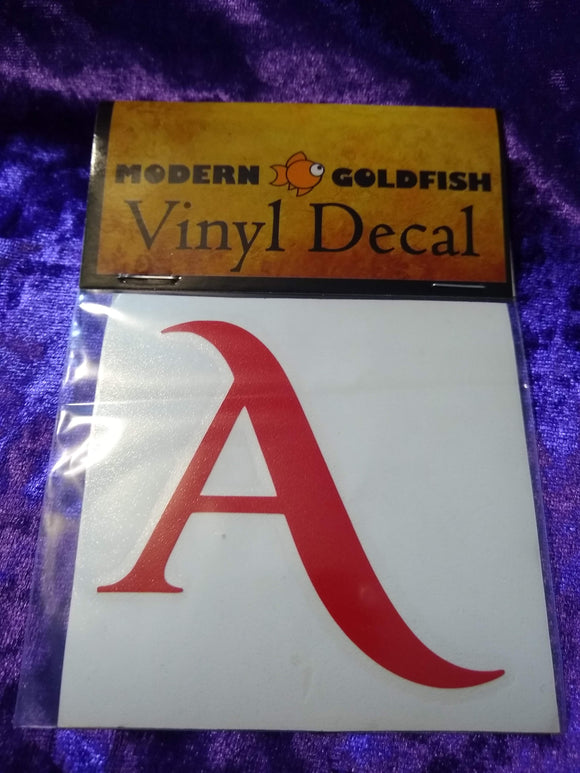 Scarlet Letter Decal