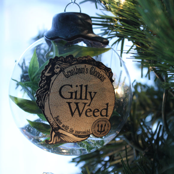 Gilly Weed Potion Ornaments for your Yuletide decorating.