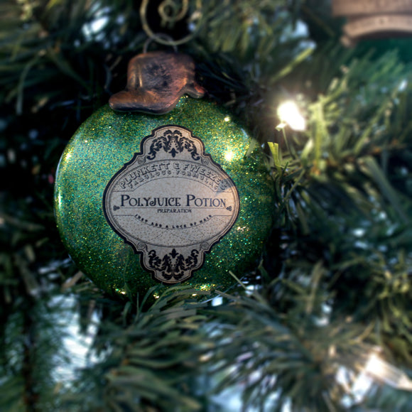 Polyjuice Potion Ornaments for your Yuletide decorating.