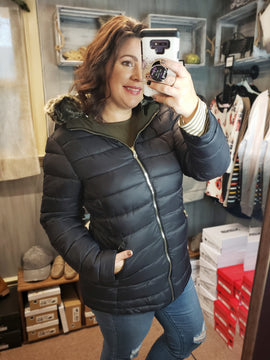 Reversable Jacket With Removable Hood