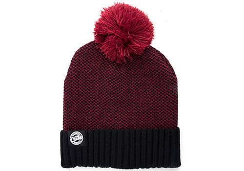 Fox Burgundy/Black Bobble Hat