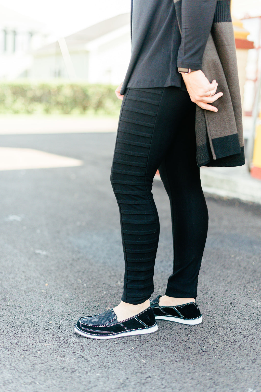 Ponte Legging with Side Pleat