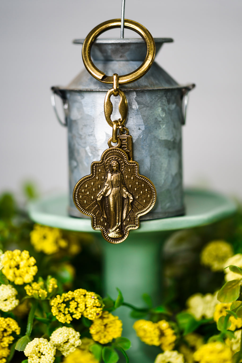 Miracles on a Ring Key Ring - Bronze