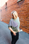 Oversized Boucle Top - Olive