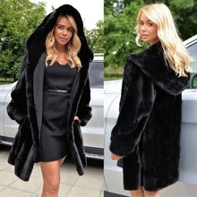 Load image into Gallery viewer, Europe and America long section imitation fur coat