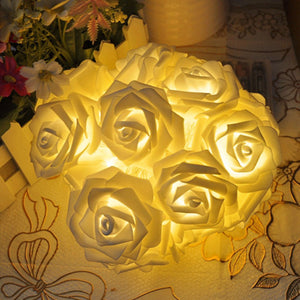 20 LED Rose Flower String Lights