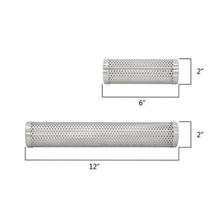 BBQ Stainless Steel Perforated Mesh Smoke Gadget Barbecue Round/Square Tube Tool