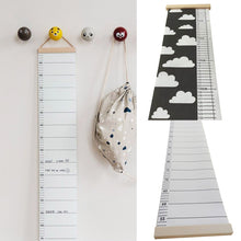 Load image into Gallery viewer, Nordic Children Height Ruler Canvas Hanging Growth Chart Kids Room Wall Decor