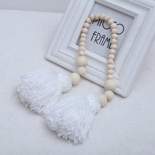 Load image into Gallery viewer, Wooden Bead Tassels Kids Baby Nursery Room Decor Wedding Ornament Wall Hangings