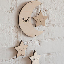 Load image into Gallery viewer, Nordic Lash Moon Star Hanging Ornament Kids Room Decoration Photography Prop