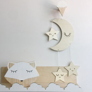 Nordic Lash Moon Star Hanging Ornament Kids Room Decoration Photography Prop