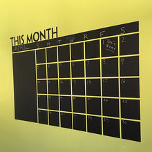 Load image into Gallery viewer, Home Office Decoration Chalk Board Blackboard Monthly Calendar Wall Sticker