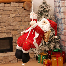 Load image into Gallery viewer, Funny Christmas Santa Claus Climbing Rope Tree Hanging Decor
