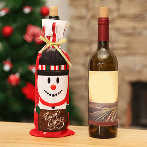 Santa Claus, Snowman, reindeer Wine Bottle bag