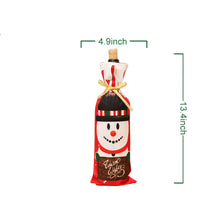 Load image into Gallery viewer, Santa Claus, Snowman, reindeer Wine Bottle bag