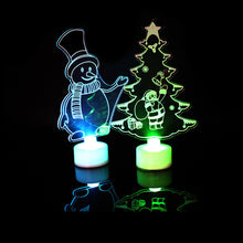 Load image into Gallery viewer, 3D Christmas Tree Santa Claus Snowman LED Night Light Colorful Lamp Party Decor