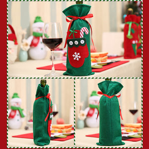 Christmas Wine Bottle Gift Bag