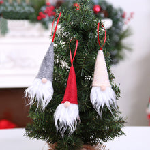 Load image into Gallery viewer, Christmas Tree Hanging Gnome Wine Bottle Cover Cap Ornament