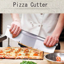 Load image into Gallery viewer, Stainless Steel Arc Pastry Dough Pizza Cutter Blade Rocker Kitchen Baking Tool