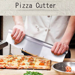 Stainless Steel Arc Pastry Dough Pizza Cutter Blade Rocker Kitchen Baking Tool