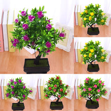 Load image into Gallery viewer, 1Pc Potted Artificial Flower Bonsai ( Stage,Garden,Wedding,Home,Party Decor Props )