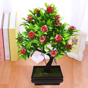 1Pc Potted Artificial Flower Bonsai ( Stage,Garden,Wedding,Home,Party Decor Props )