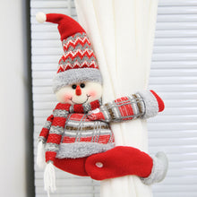 Load image into Gallery viewer, Christmas Cartoon Santa Claus Snowman Window Curtain Buckle Tieback Xmas Decor