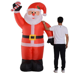 Inflatable Air Blown Christmas Santa Claus 240cm W/LED