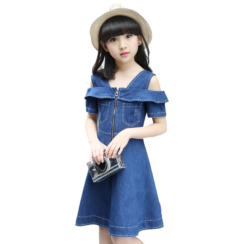 Girls Denim Dress for Children