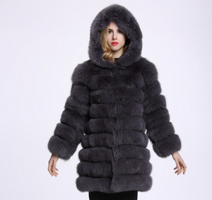 Hoodie plush, Plus size, thick long warm coat