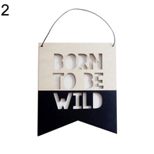 Load image into Gallery viewer, Nordic Style Wooden Hollow Letter Design Wall Hanging